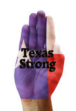 Texas Strong. Texas Strong hand of a Texan Royalty Free Stock Photography