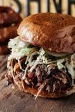 Texas Style BBQ dragen grisköttsmörgås Royaltyfria Foton