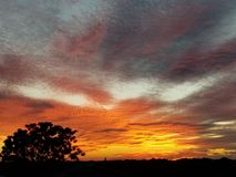 Texas Sunset arkivbilder