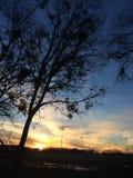 Texas Sunset hermoso Imagenes de archivo
