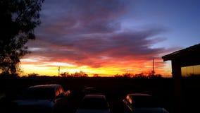 Texas Sunset spettacolare fotografie stock