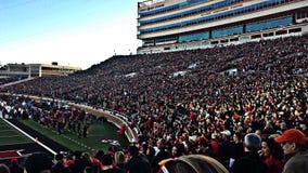 Texas Tech Football Stadium - Lubbock an der Dämmerung Lizenzfreies Stockfoto