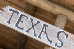 TEXAS tecken Arkivfoto