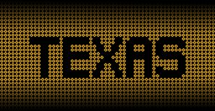 Texas text on Hurricane warning signs illustration Royalty Free Stock Photography