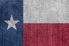 Texas Textile Industry Or Politics-Concept: Texan Jeans van het Vlagdenim royalty-vrije stock foto's
