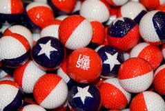 Texas Theme Golfballs Royalty Free Stock Image