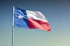 Texas tillståndsflagga Fotografering för Bildbyråer