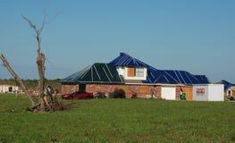 Texas Tornado - Damaged Roof royalty free stock photos