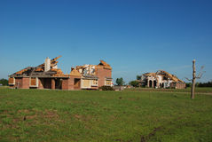 Texas Tornado - Destroyed Homes. A tornado destroyed many homes in the Bent Tree neighborhood south of Royse City, Texas on April 3, 2012. Sky can be seen in Stock Image