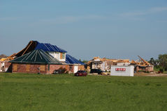 Texas Tornado - Destroyed Neighborhood. A tornado destroyed many homes in the Bent Tree neighborhood south of Royse City, Texas on April 3, 2012. One of the Royalty Free Stock Image