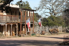 Texas Town. Old West Texas town with Lone Star flag royalty free stock photo