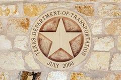 Texas Transportation Symbol Imágenes de archivo libres de regalías