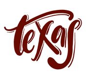 Texas typography hand drawn vector lettering. stock illustration