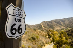 TEXAS US 66 SIGN Stock Photos