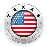 Texas Usa button steel Royalty Free Stock Photos