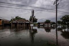 Texas våröversvämning Arkivfoto