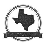 Texas vector map stamp. Stock Image