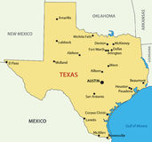 Texas - vector map of US state Stock Image