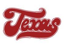 texas Vector rotulação escrita à mão feita no estilo da velha escola isolado ilustração do vetor