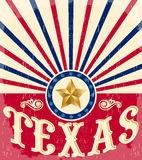 Texas Vintage poster - Card - western Royalty Free Stock Photo