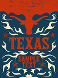 Texas Vintage poster - Card -  western - cowboy. Style - vector Grunge effects can be easily removed Stock Photography