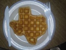 Texas Waffle fotografia stock