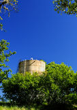 Texas Water Tank. Water tank shot in the Texas Hill Country Stock Images