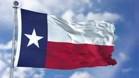Texas Waving Flag Imagem de Stock Royalty Free