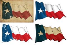 Texas Waving Flag Set illustration de vecteur