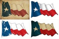 Texas Waving Flag Set Stock Image
