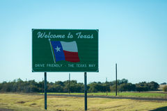 Texas Welcome fotos de archivo libres de regalías