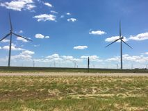 Texas Windmills Image stock