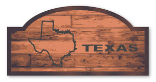 Texas Wooden Sign Stock Images