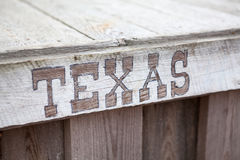 Texas words on wooden planks, inscription Stock Photography