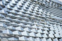 Texcture de aluminio del material compuesto para el edificio de la fachada foto de archivo