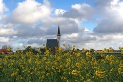 Texel del hoorn della tana della chiesa fotografia stock libera da diritti