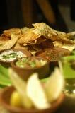 TexMex food. Tex mex food table full of botanas Royalty Free Stock Images