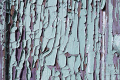 Texrure of old cracked wood painted blue Stock Photo