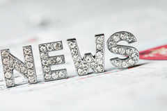 Text of �news� on newspaper Stock Image