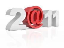Text 2@11 2011 trennte auf weißem Hintergrund Lizenzfreie Stockfotografie