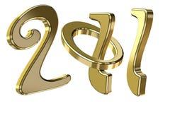 Text 2011 des neuen Jahres Lizenzfreie Stockbilder