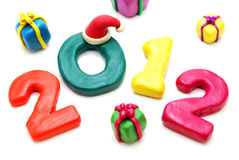 Text 2012 with Random Gifts Royalty Free Stock Images
