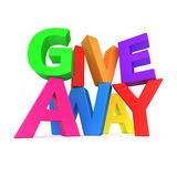 Text. Giveaway made from multicolored letters Royalty Free Stock Images