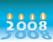 Text. 2008 with candles. Vector illustration Stock Photography