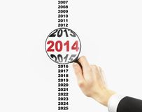 Text 2014 Stockbild
