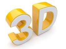 Text 3D. Unterhaltungskino. Getrennt Lizenzfreie Stockbilder