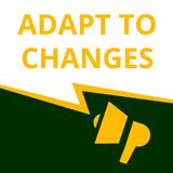 text Adapt To Changes royalty free illustration