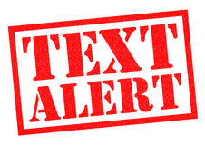 TEXT ALERT Royalty Free Stock Image