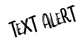 Text Alert rubber stamp Royalty Free Stock Photos