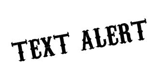 Text Alert rubber stamp Royalty Free Stock Images